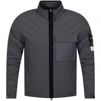 Stone Island Charcoal Lightweight Zip Up Jacket