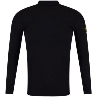 Stone Island Charcoal Roll Neck Jumper