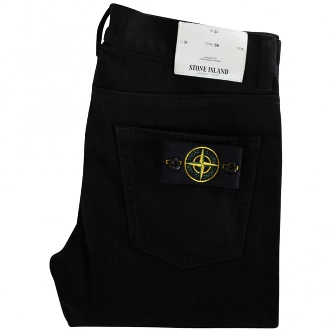 STONE ISLAND Compass Black Skinny Fit Jeans