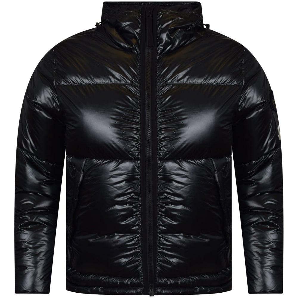 924c07274337 STONE ISLAND Stone Island Dark Green Black Zip Up Hooded Jacket ...