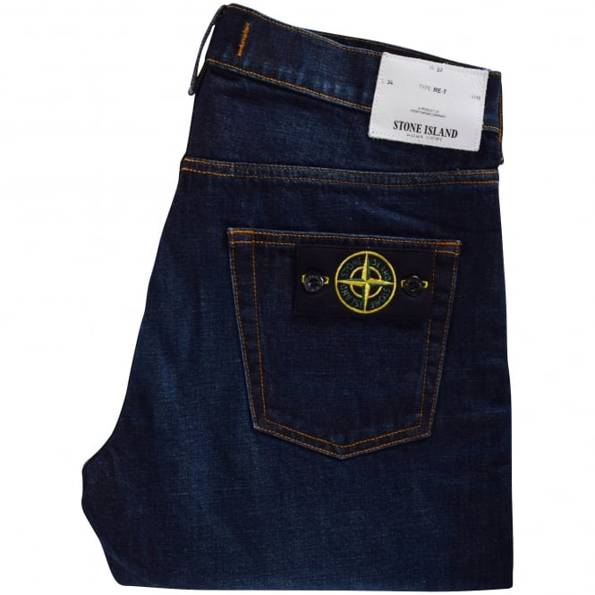STONE ISLAND Dark Wash RE-T Jeans