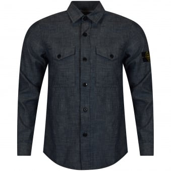 Stone Island Denim Badge Shirt