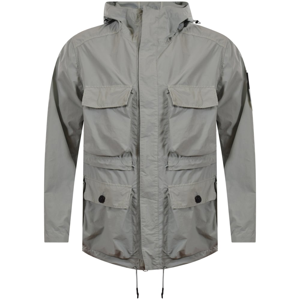 stone island stone island grey david tela light tc jacket. Black Bedroom Furniture Sets. Home Design Ideas