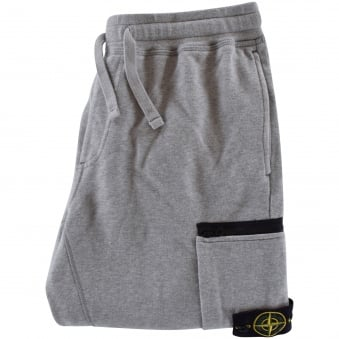 Stone Island Grey Zip Badge Joggers