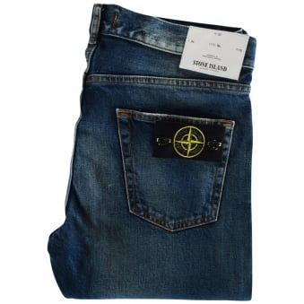 Stone Island Mid-Wash Slim Fit Jeans