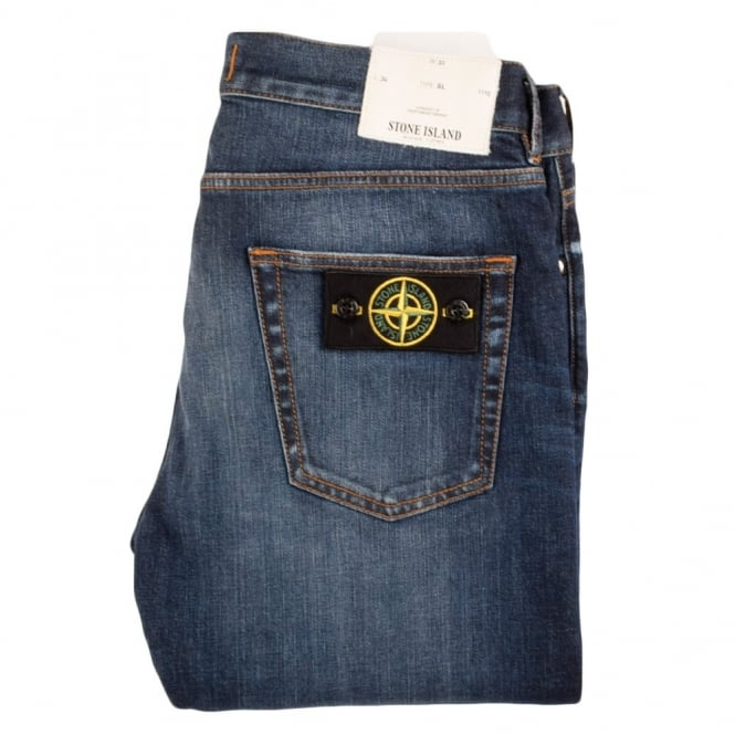 STONE ISLAND Mid Wash Type: Slim Fit Jeans