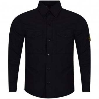 Stone Island Navy Button Shirt