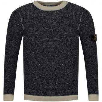 Stone Island Navy/Cream Thick Knit Jumper