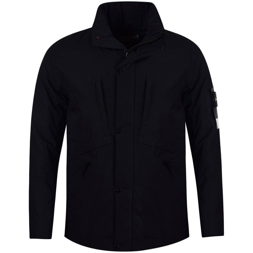 Stone Island Navy Waterproof Jacket