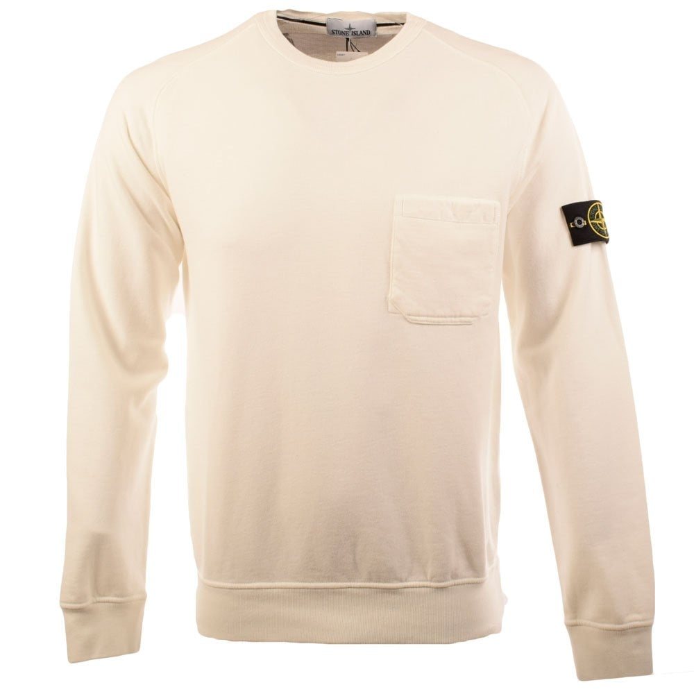 stone island stone island off white compass patch crew neck sweater men from brother2brother uk. Black Bedroom Furniture Sets. Home Design Ideas