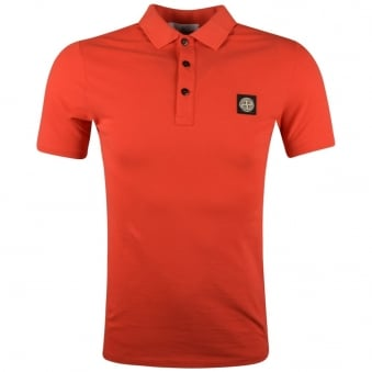 Stone Island Red Compass Polo Shirt