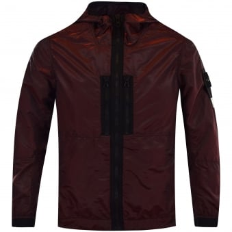 Stone Island Red Nylon Weft Jacket