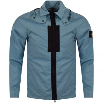 Stone Island Sky Blue Lightweight Zip Jacket