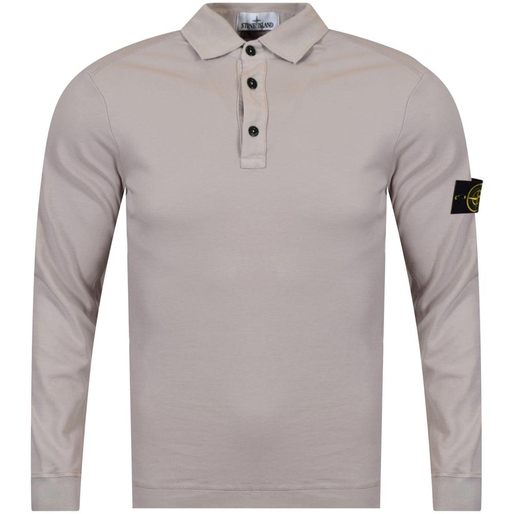 722560b34c2 STONE ISLAND Stone Island Stone Compass Long Sleeve Polo Shirt ...