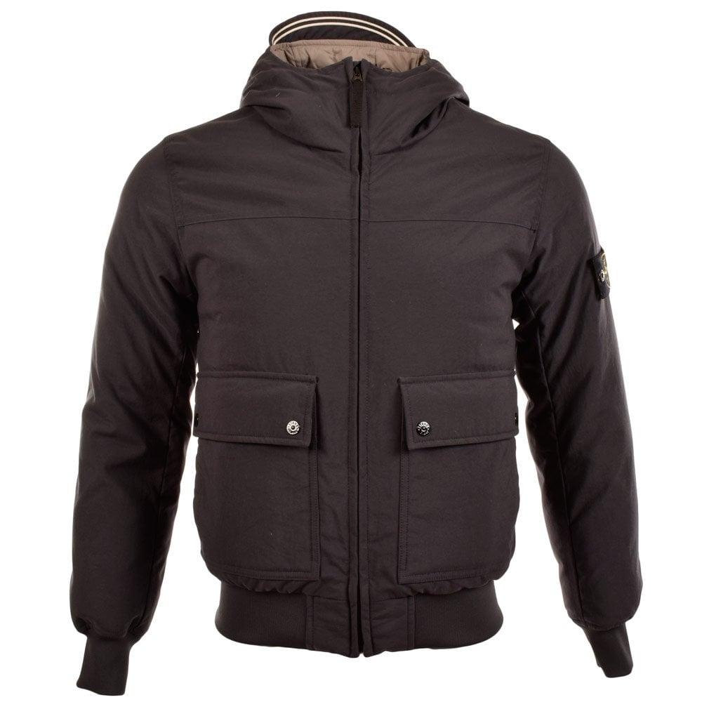 STONE ISLAND Stone Island Black Bomber Style Jacket - Jackets\/Coats ...