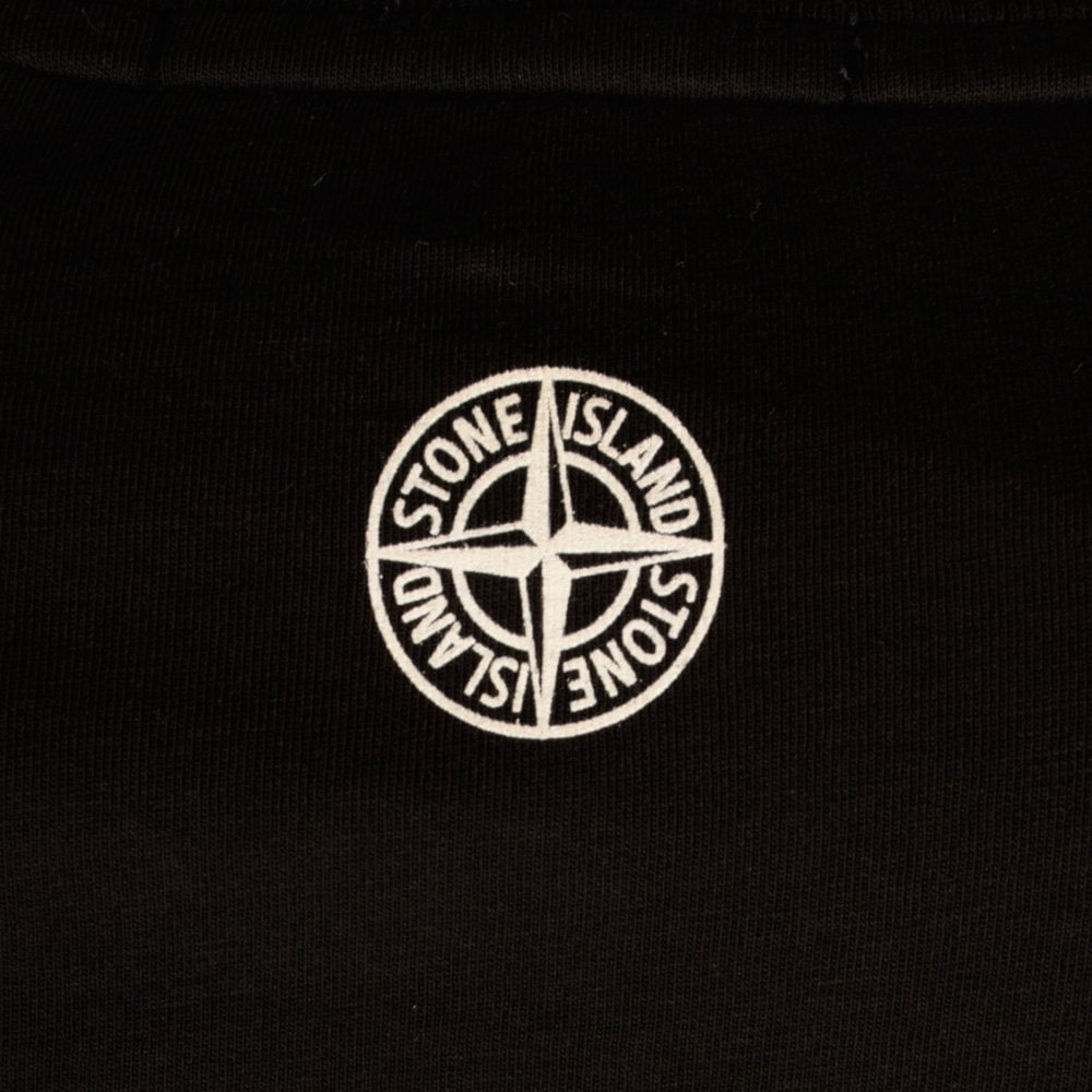 stone island stone island black printed logo long sleeve t shirt stone island from. Black Bedroom Furniture Sets. Home Design Ideas