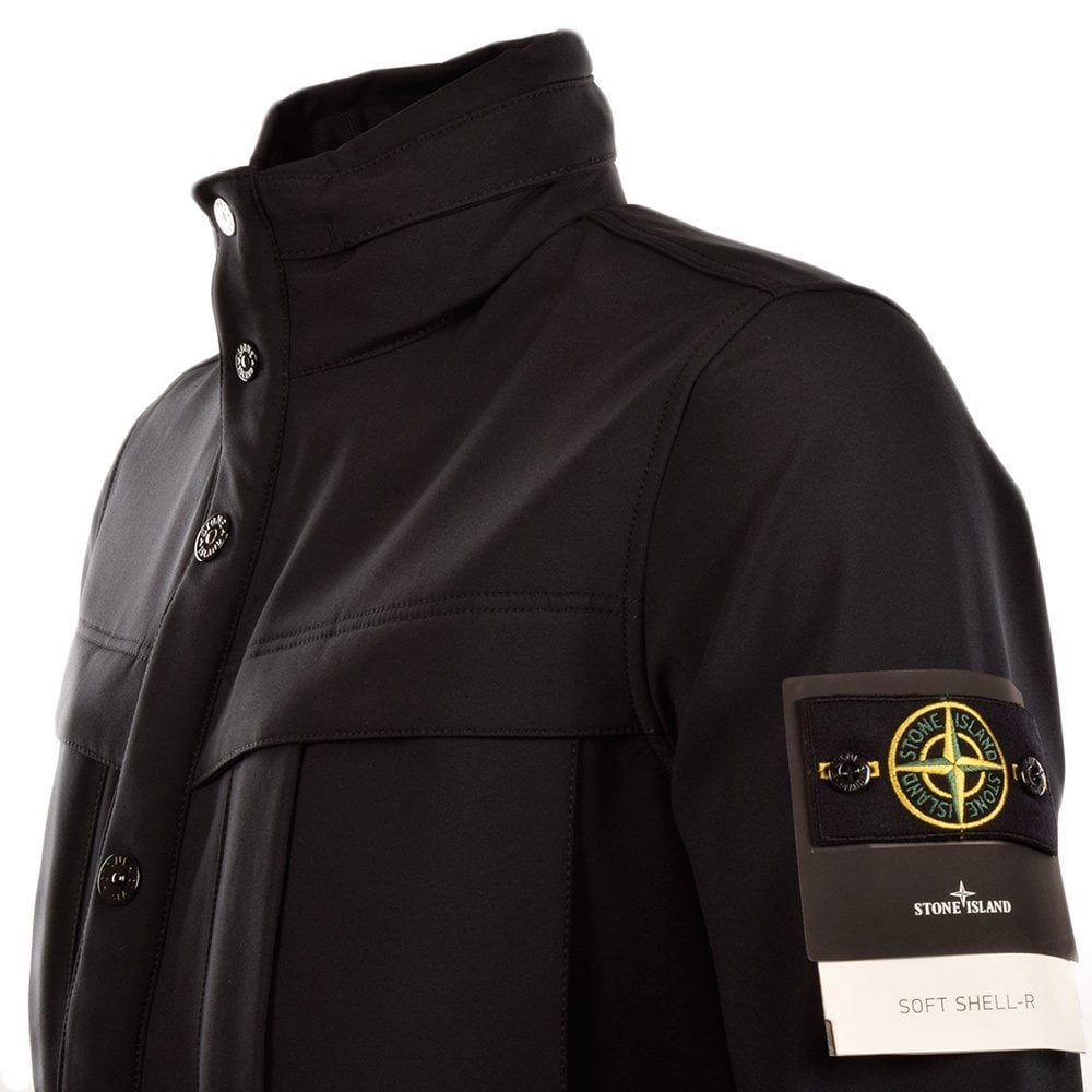 stone island stone island black soft shell r short jacket stone island from brother2brother uk. Black Bedroom Furniture Sets. Home Design Ideas