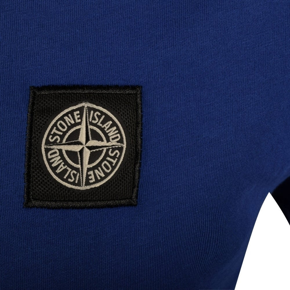 stone island stone island blue compass logo t shirt stone island from brother2brother uk. Black Bedroom Furniture Sets. Home Design Ideas