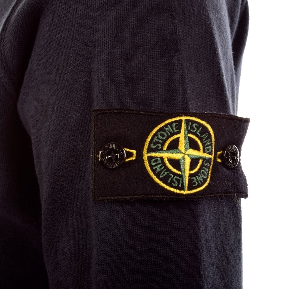 stone island crew neck sweater navy. Black Bedroom Furniture Sets. Home Design Ideas