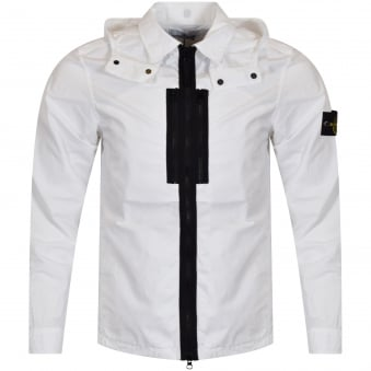 Stone Island White Lightweight Zip Jacket