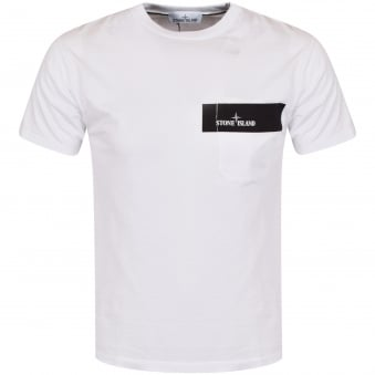Stone Island White Pocket Logo T-Shirt