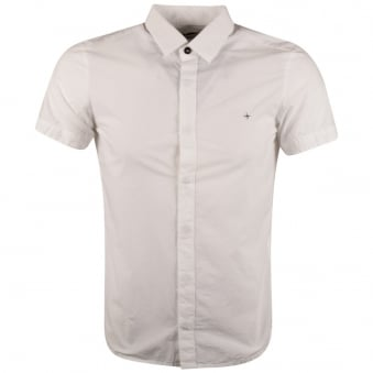 Stone Island White Short Sleeve Shirt