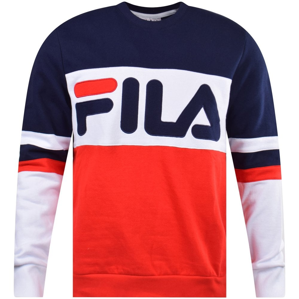 ffc2639bcc6 FILA Straight Blocked Crew Sweatshirt - Men from Brother2Brother t/a ...