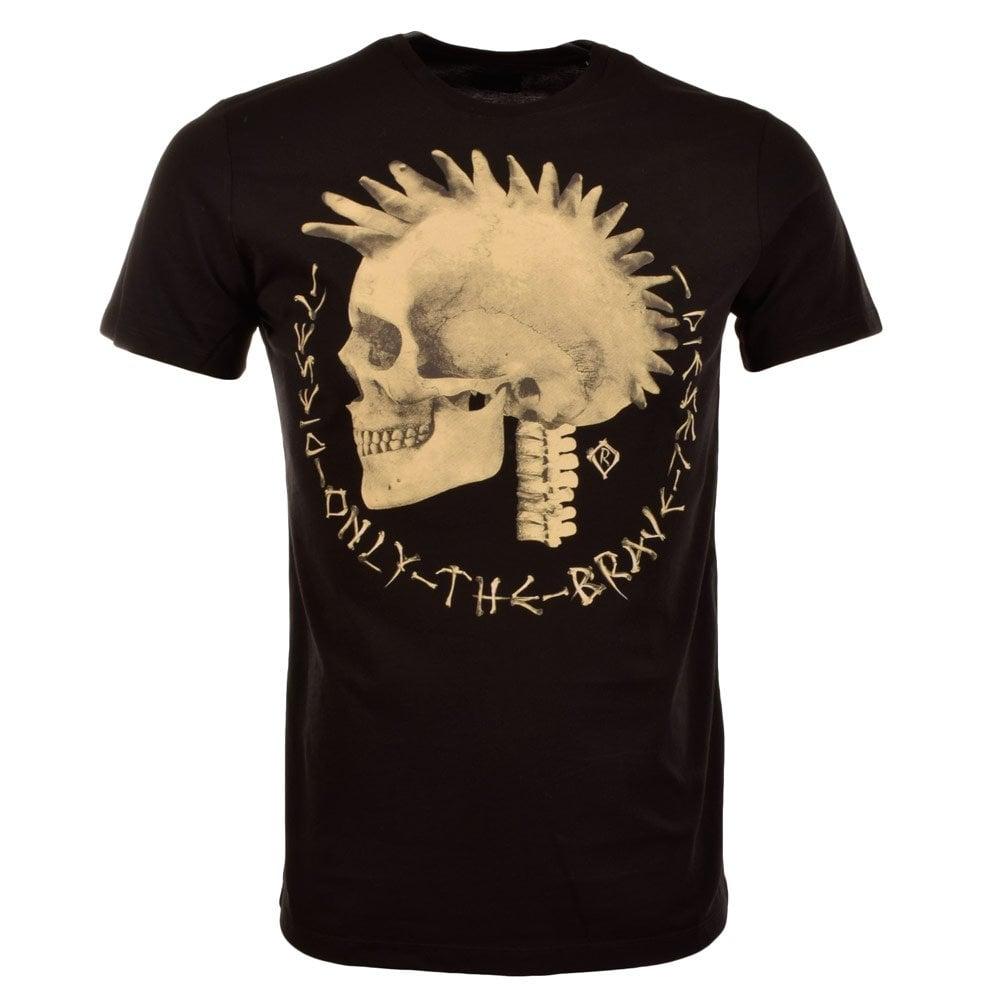 DIESEL T-Feddo Black Mohawk T-Shirt - Men from ...