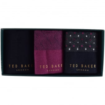 Ted Baker 3 Pack Assorted Socks Gift Set