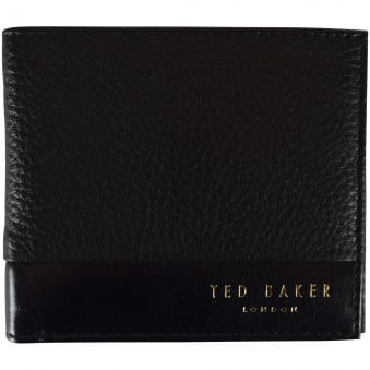 Ted Baker Black 2 Tone Leather Wallet