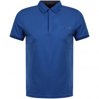 Ted Baker Blue Button Pocket Polo Shirt