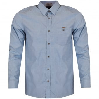 Ted Baker Blue 'Newway' Long Sleeved Shirt