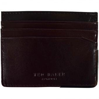 Ted Baker Brown Metal Edge Card Holder