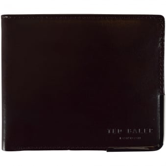 Ted Baker Brown Metal Edge Logo Wallet