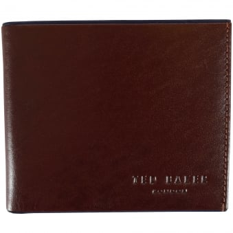 Ted Baker Brown/Navy Leather Logo Wallet