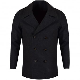 Ted Baker Charcoal Double Breasted Wool Jacket