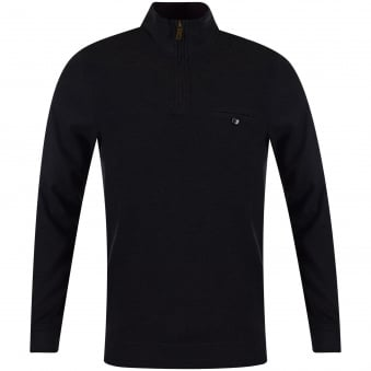 Ted Baker Charcoal Quarter Zip Sweatshirt