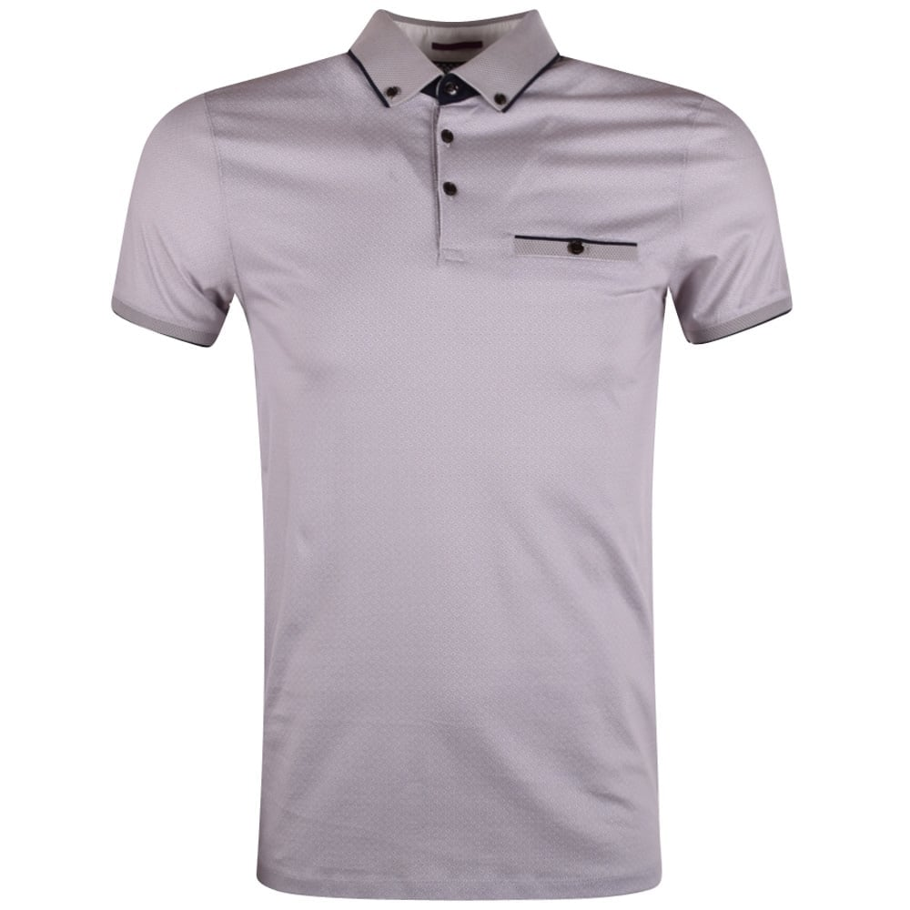 4f6f7216054a8 TED BAKER Ted Baker Grey Geo Print Pocket Polo Shirt - Men from ...