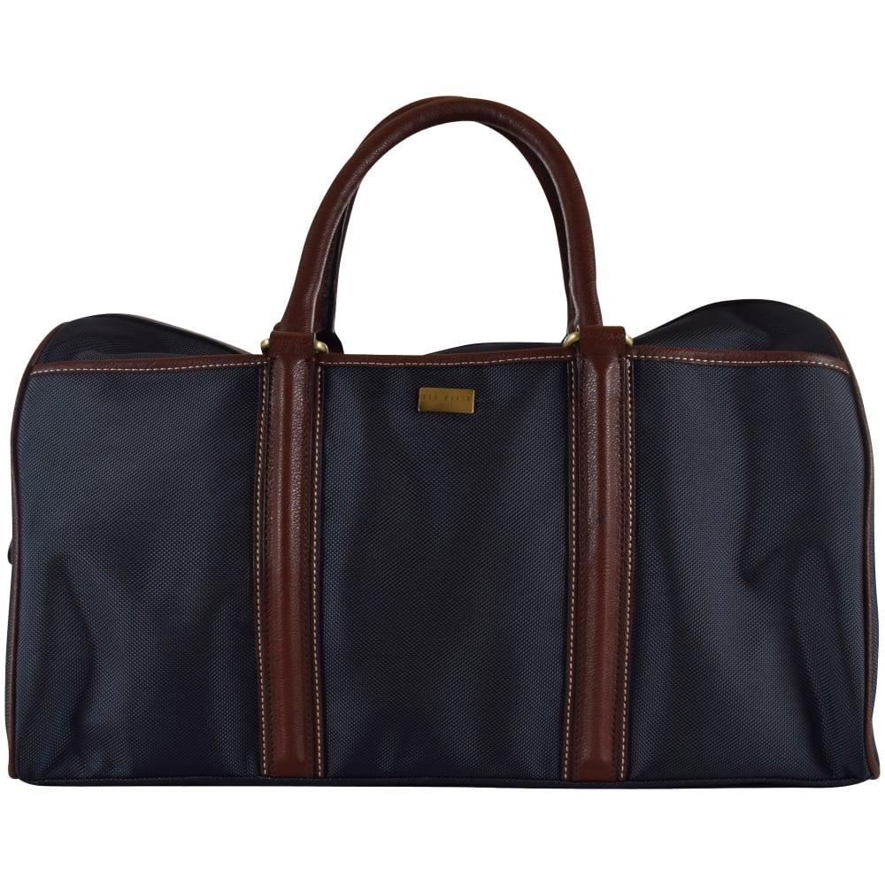 TED BAKER Ted Baker Navy   Brown Holdall Bag - Men from ... b792ffcef