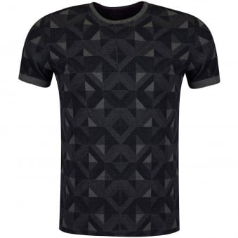 Ted Baker Navy & Grey Geo Print T-Shirt