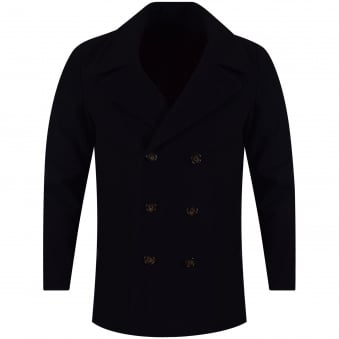 Ted Baker Navy Wool Double Breasted Jacket