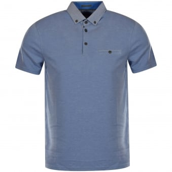 Ted Baker Sky Blue Button Pocket Polo Shirt