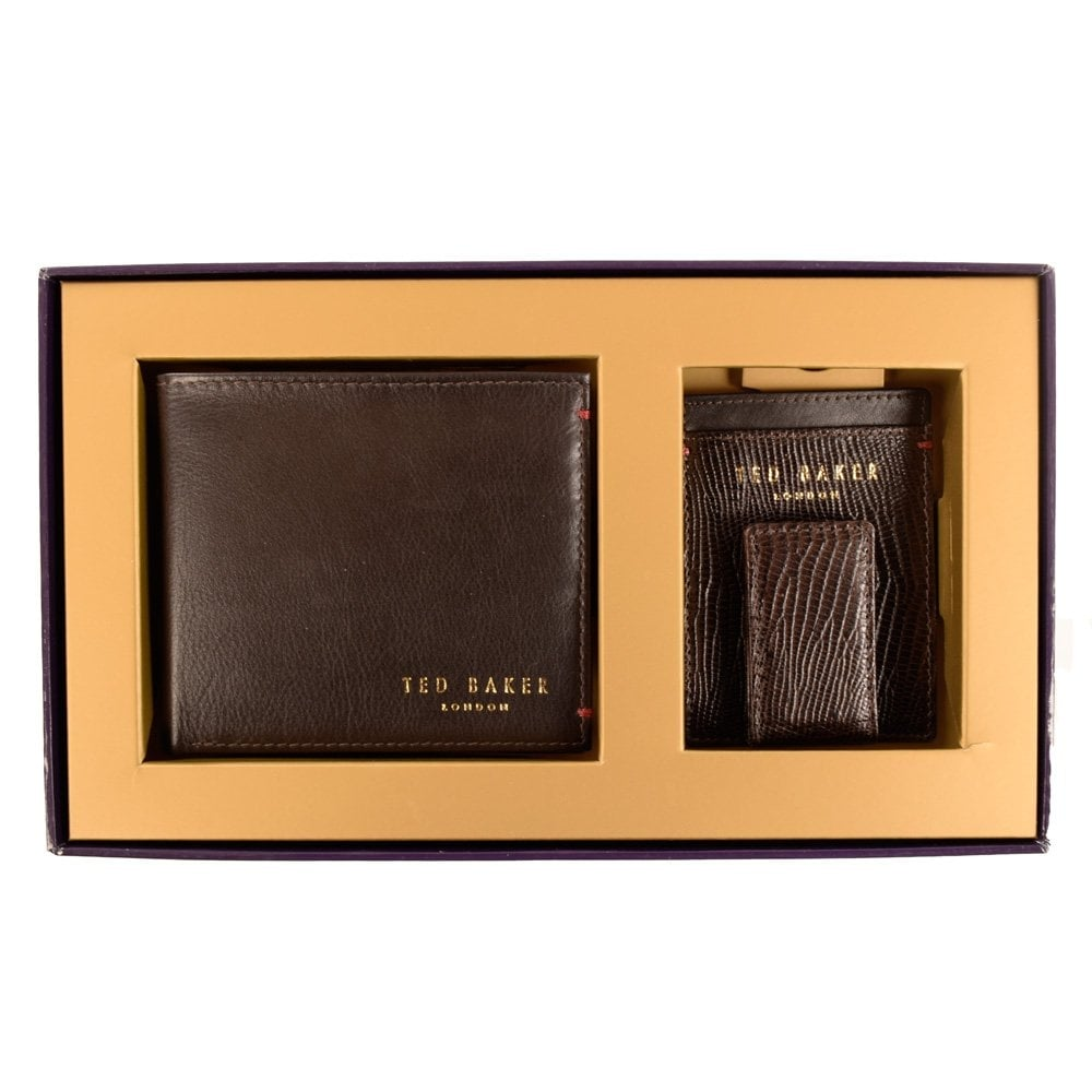 f874761965e3c7 TED BAKER Ted Baker Brown Wallet   Card Gift Set - Men from ...