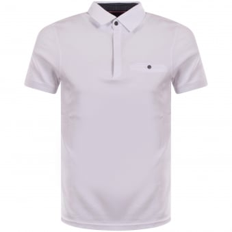 Ted Baker White Button Pocket Polo Shirt
