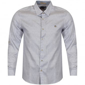 Ted Baker White Square Checked Shirt