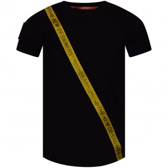 The New Designers Black Body Tape T-Shirt
