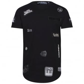 The New Designers Black & White Patch T-Shirt