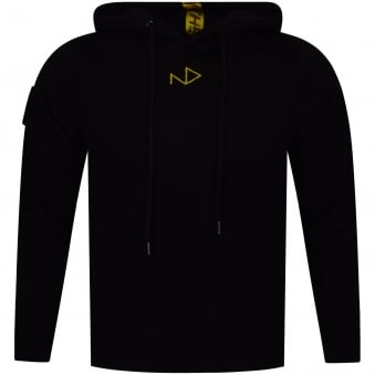 The New Designers Black/Yellow Logo Pullover Hoodie