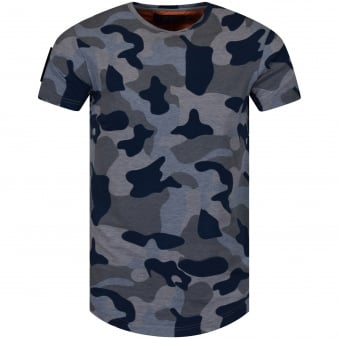 The New Designers Blue Camo Patch T-Shirt