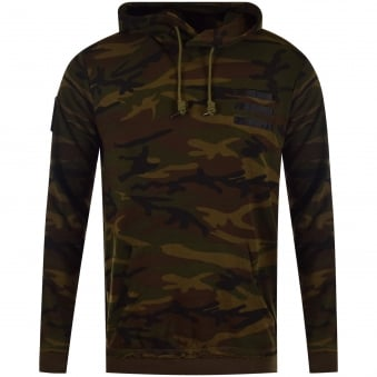 The New Designers Camo Khaki Peace Pullover Hoodie